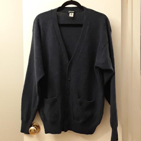 Men's wool cardigan L